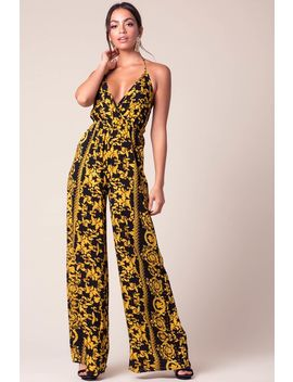 Leading Lady Printed Jumpsuit by A'gaci