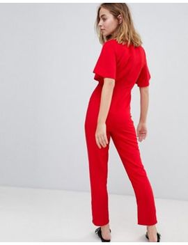 New Look Petite Flutter Sleeve Jumpsuit by New Look Petite