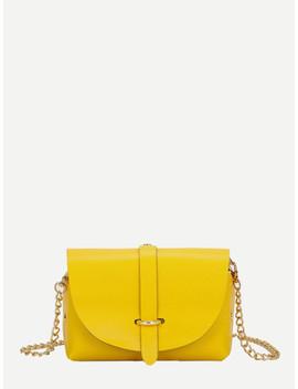 Metal Detail Chain Bag by Sheinside