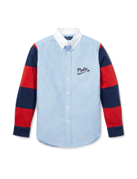 Jersey Sleeve Oxford Shirt by Ralph Lauren