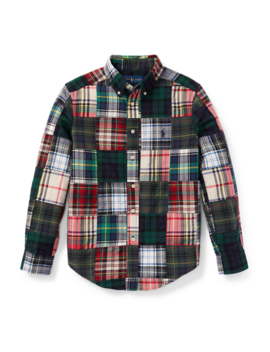 Patchwork Cotton Madras Shirt by Ralph Lauren
