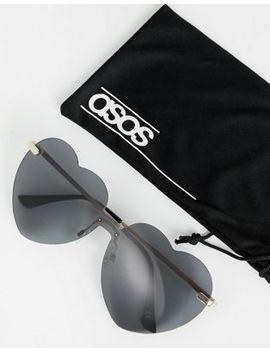 Asos Design Heart Sunglasses by Asos Design
