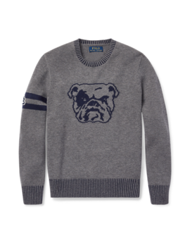 Dog Merino Cotton Sweater by Ralph Lauren