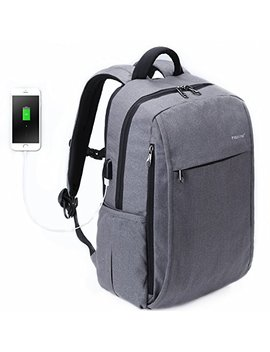 Tigernu Series Business Laptop Backpack Slim Anti Theft Travel Computer Backpacks Environmentally Waterproof Laptops Bag For Men/Women With Usb Charging Port 15.6 Inch Grey by Uoobag