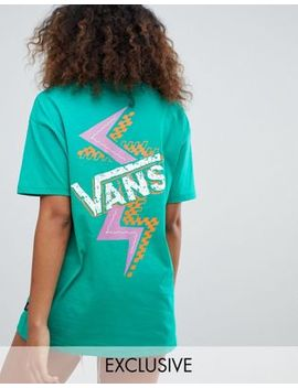 Vans Exclusive Green Archive Shatter Back Print T Shirt by Vans