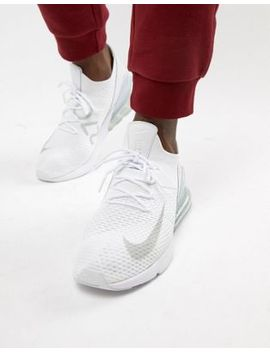 Nike Air Max 270 Flyknit Trainers In White Ao1023 102 by Nike