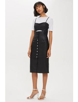Leather Look Slip Dress by Topshop