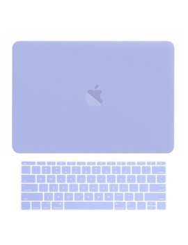 Top Case   Macbook Pro 13 Without Touch Bar (Release 2017 & 2016) 2 In 1 Bundle, Rubberized Hard Case + Matching Color Keyboard Cover For Mac Book Pro 13 Inch A1708 Without Touch Bar   Serenity Blue by Top Case