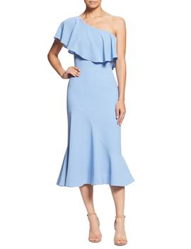 Raquel One Shoulder Trumpet Dress by Dress The Population