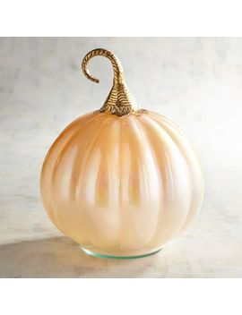 Gold Luster Glass Pumpkin by Pier1 Imports