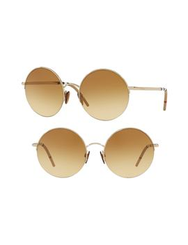 54mm Round Sunglasses by Burberry