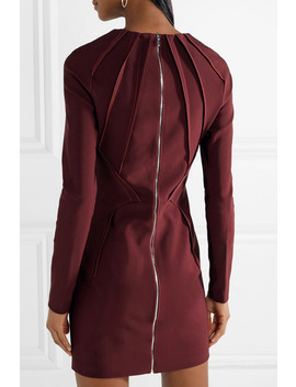 Pintucked Stretch Cady Mini Dress by Mugler