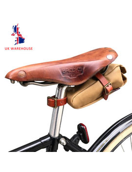Tourbon Bicycle Saddle Bag Bike Pouch Case Canvas &Amp; Leather Storage Brown In Uk by Ebay Seller
