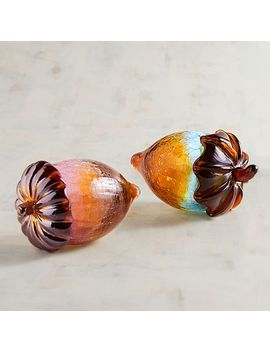 Amber Art Glass Acorns by Pier1 Imports