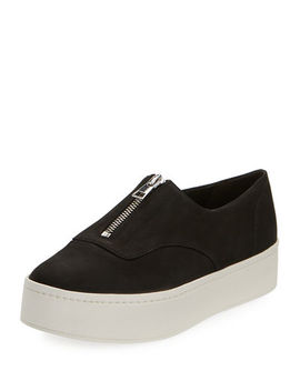 Warner Zip Front Platform Sneakers by Vince
