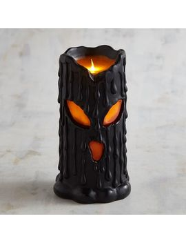 Melting Face Led Pillar Candle by Pier1 Imports