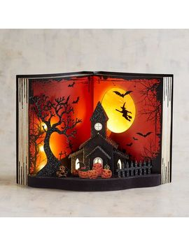 Spooky Graveyard Led Light Up Book by Pier1 Imports