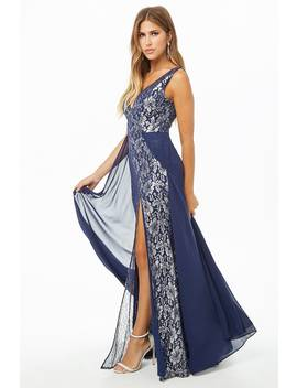 Metallic Mesh Gown by Forever 21