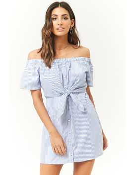 tie-front-striped-poplin-dress by forever-21