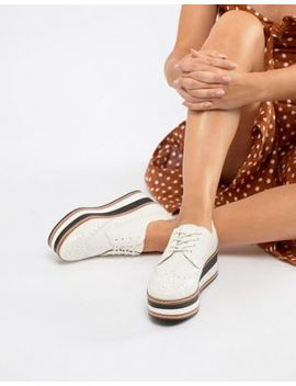 Steve Madden Greco Leather Flatform Shoe by Steve Madden