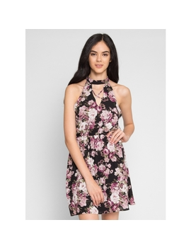 Bring It On Floral Halter Dress by Wet Seal