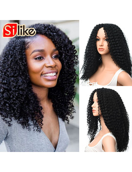 Silike Kanekalon Wigs Long Afro Kinky Curly Wig Medium Brown Synthetic Wigs For Black Women African Hairstyle by Silike