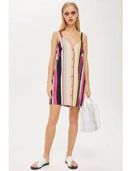 Stripe Linen Mini Dress by Topshop