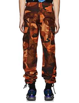 Embroidered Camouflage Cotton Cargo Pants by Heron Preston
