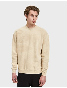Oversized Crewneck Pullover In Marble Tan by John Elliott