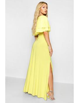 Paris Hilton Ruffle Lace Up Front Maxi Dress by Boohoo
