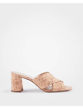 Honor Cork Mule Sandals by Ann Taylor