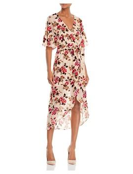Clarine Velvet Burnout Wrap Dress by Alice And Olivia