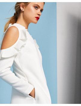 Schulterfreies Kleid Mit Rüschendetail by Ted Baker