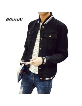 2018 Bomber Jacket Men Denim Jacket Fashion Black Casual Sim Fit Men Jeans Jackets Plus Size S 3 Xl 4 Xl 5 Xl Mens Jean Clothing by Gouhai
