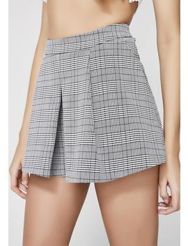 Show Up Late Plaid Skort by Blue Blush
