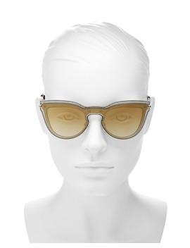 Women's Mirrored Cat Eye Shield Sunglasses, 135mm by Valentino