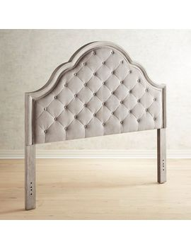 Bella Ii Granite Upholstered Queen Headboard by Hayworth Collection