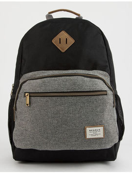 Benrus Platoon Grey And Black Backpack by Benrus
