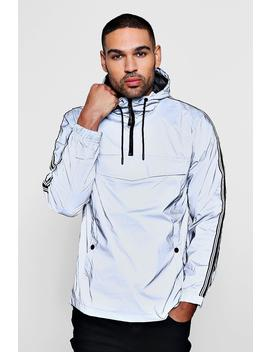 Reflective Cagoule With Sports Tipping by Boohoo