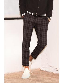 Dele Grey Check Woven Jogger With Elasticated Waist by Boohoo