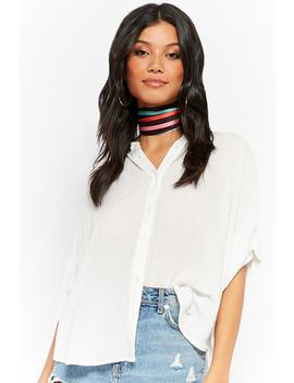 Crinkled Dolman Shirt by Forever 21