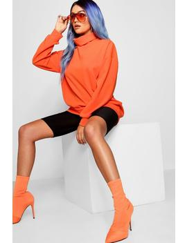 Funnel Neck Longline Sweater by Boohoo