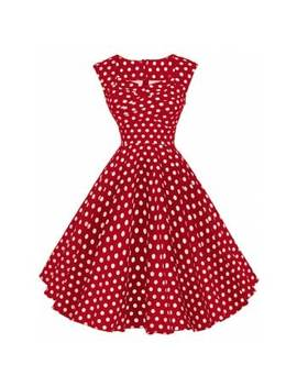 """<P>Vintage Polka Dot Twisted Dress</P><I Class=""""Icon Down Js Tap Up Down""""></I> by Dress Lily"""
