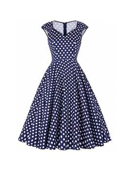 """<P>Vintage Polka Dot Sweetheart Dress</P><I Class=""""Icon Down Js Tap Up Down""""></I> by Dress Lily"""