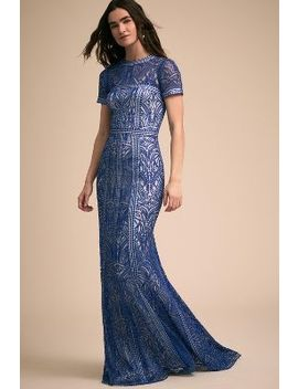 Blue Nights Dress by Anthropologie