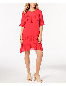 Ruffled Chiffon Dress by Kensie