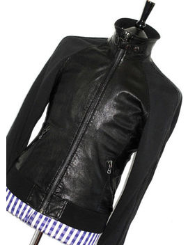 Mens D&G Dolce & Gabbana Leather & Cotton College Bomber Sports Jacket Coat 40 R by Dolce&Gabbana