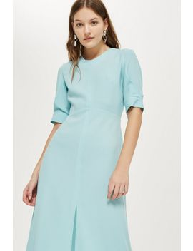 Seamed Crepe Midi Dress by Topshop