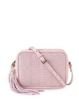 Madison Python Embossed Leather Crossbody Bag by Gi Gi New York