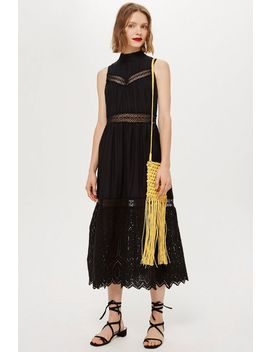 Sleeveless Broderie Midi Dress by Topshop